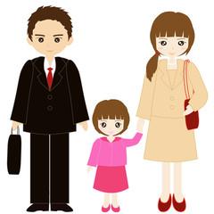 両親と娘の親子