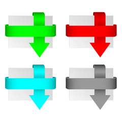 Set of arrows in different colors