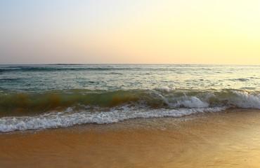 Метровая волна на пляже Коггала