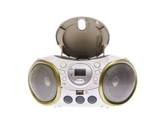 Portable MP3, CD, DVD Audio. Isolated