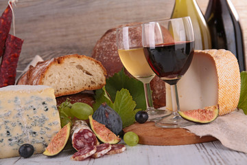 wine,cheese and bread