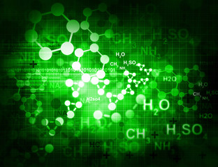 Molecules background.