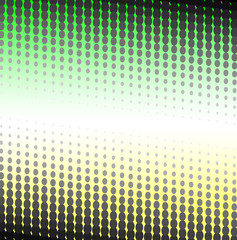 Green - yellow halftone of the circles. Vector illustration.