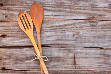 two tablespoons for cooking on the table