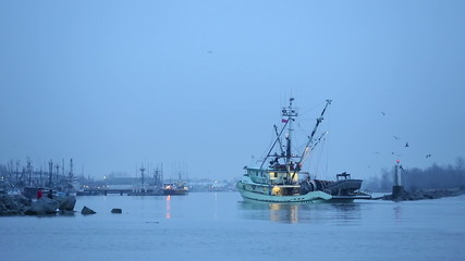 Early Morning Seiner returning, Steveston
