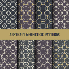Collection of abstract geometric patterns