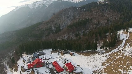 Mountain resort overfly