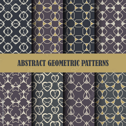 Plexiglas Kunstmatig Collection of abstract geometric patterns