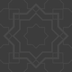Gray arabesque seamless pattern
