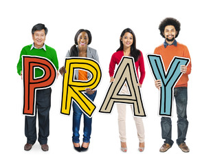 Multiethnic Group of People Holding Pray Concept