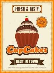 Flyer or menu card design for Cupcake.