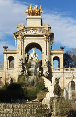 De la Ciutadella Park with Fountain, in Barcelona, Spain.
