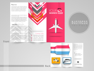 Tri-Fold brochure and flyer for tour and travels.