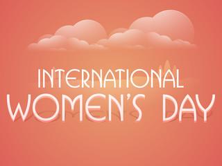 Poster or banner for International Women's Day celebration.