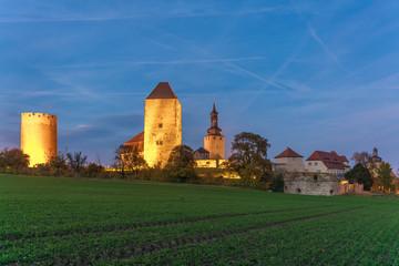 Burg Querfurt im Abendlicht