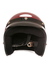 red bikers crash helmet