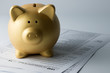Leinwanddruck Bild - Income tax
