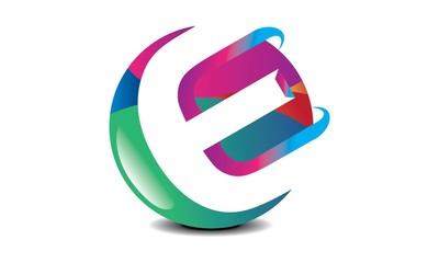 e Letter Logo 3d 3d e Letter Logo