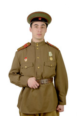 young Soviet officer during World War II