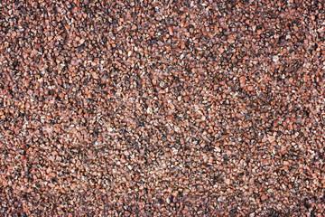 Seamless decorative covering from a quartz crumb