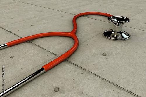 Leinwandbild Motiv stethoscope