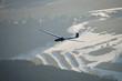 Leinwanddruck Bild - Segelflugzeug über winterlicher Landschaft