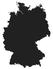 Deutschlandkarte - Map of Germany
