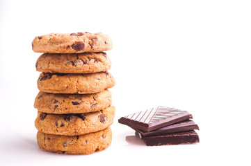 Delicious stack of Chocolate Chip Cookies