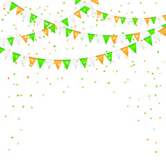 Pennants and confetti