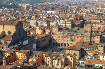 Panoramic view of Bologna, Italy
