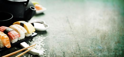 Closeup of fresh sushi