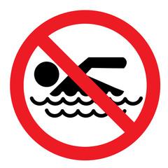 zakaz kąpieli, pływania, wchodzenia do wody,