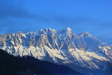 Der Grimming im Ennstal (Steiermark) im Winter