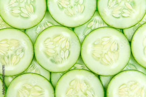 Foto op Plexiglas Groenten Cucumber slices background