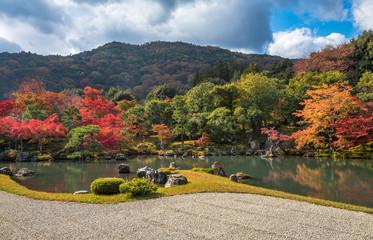 Tenryu-ji garden in fall, Arashiyama, Kyoto, Japan