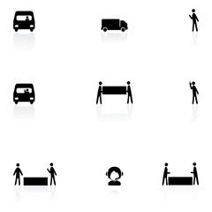 Logistics black icons