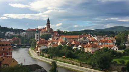 historic castle in Cesky Krumlov.Time lapse.