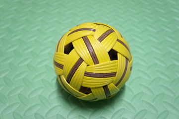 Takraw Ball On Green Mate