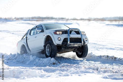 Winter truck ride - 78687798