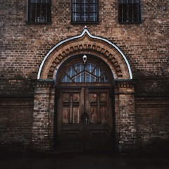 the doors of old church