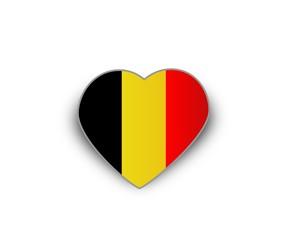 Heart flag of Belgium