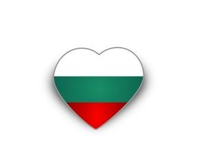 Heart flag of Bulgaria