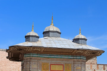The Fountain of Sultan Ahmed III in Istanbul, Turkey