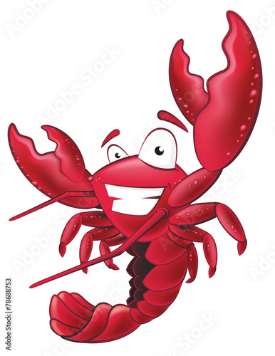 Fototapeta Cute Lobster Character.