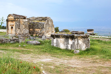 Ancient tombs in the necropolis, II - XIV century AD, Hierapolis