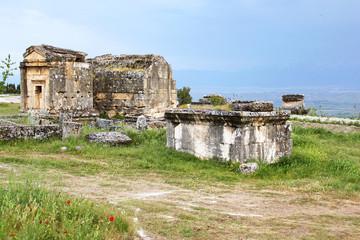 Ancient tombs in the necropolis, II - XIV century AD, Hierapolis