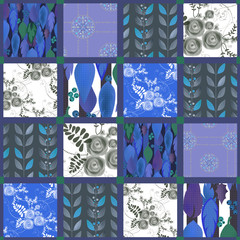 Patchwork seamless pattern background