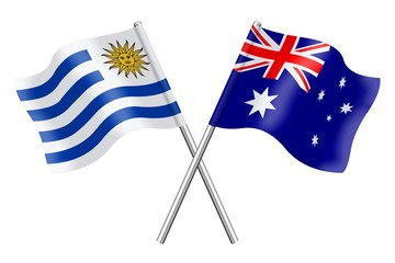 Flags: Uruguay and Australia