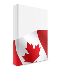 Canada book cover flag white