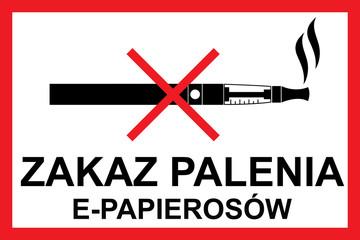 zakaz palenia e-papierosow